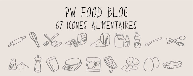 PW FoodBlog, icônes culinaires