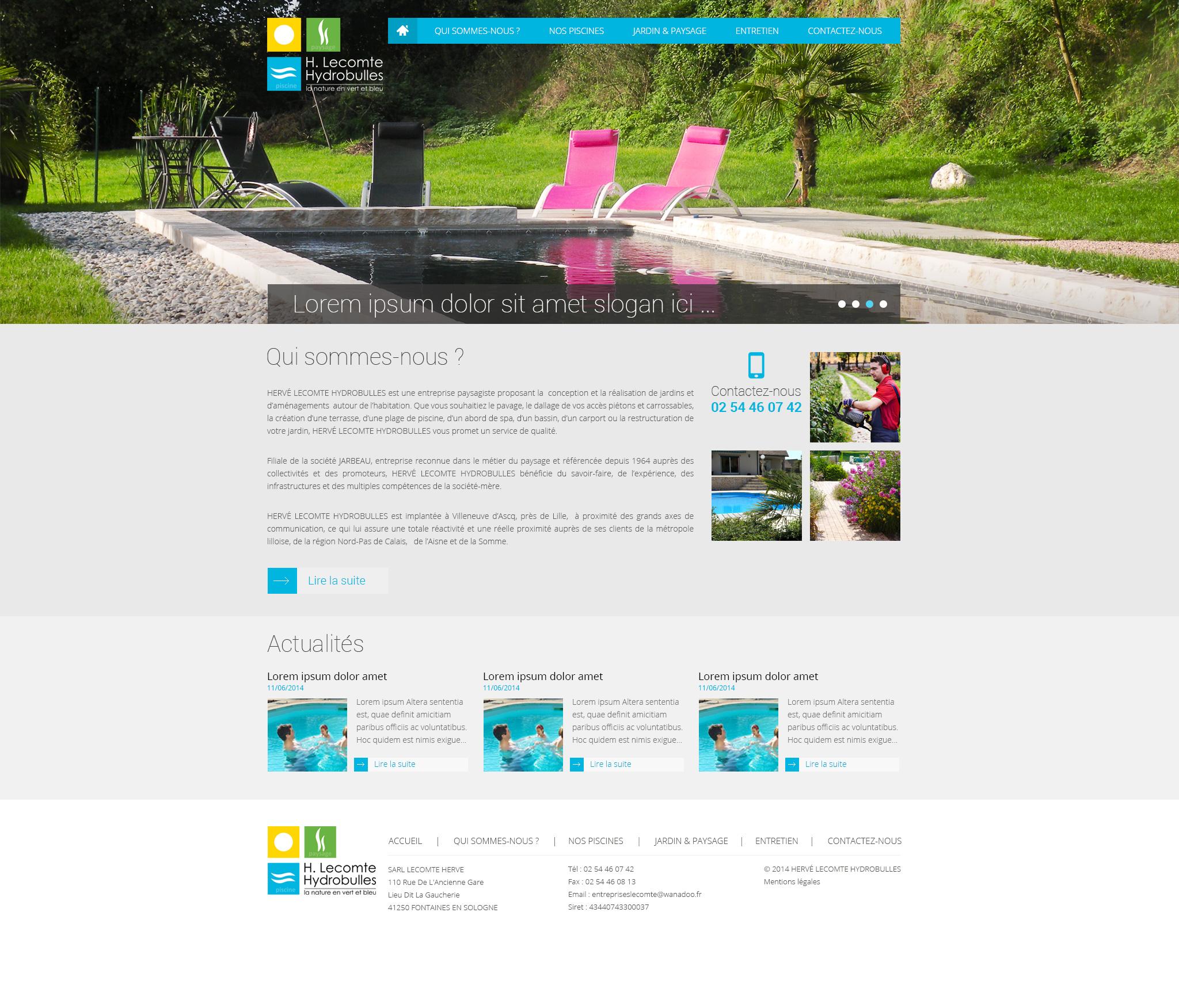 Portfolio de peax webdesign graphiste freelance page 7 for Site de paysagiste
