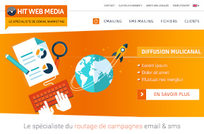Design pour un site marketing