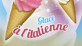 Décor de machine à glace