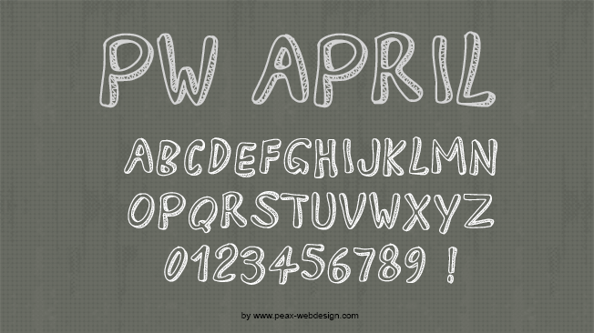 PW April, font 3D