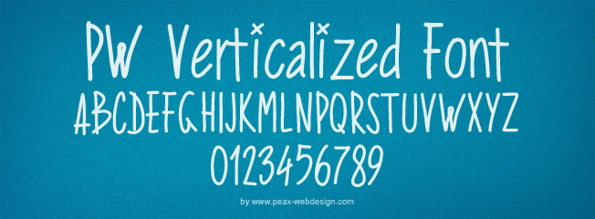 PW Verticalized font